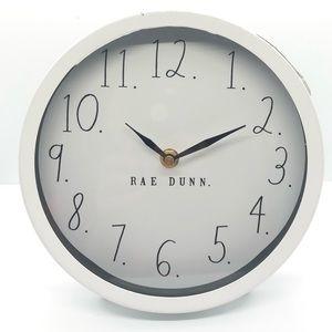 Rae Dunn Design Styles White Clock NWT